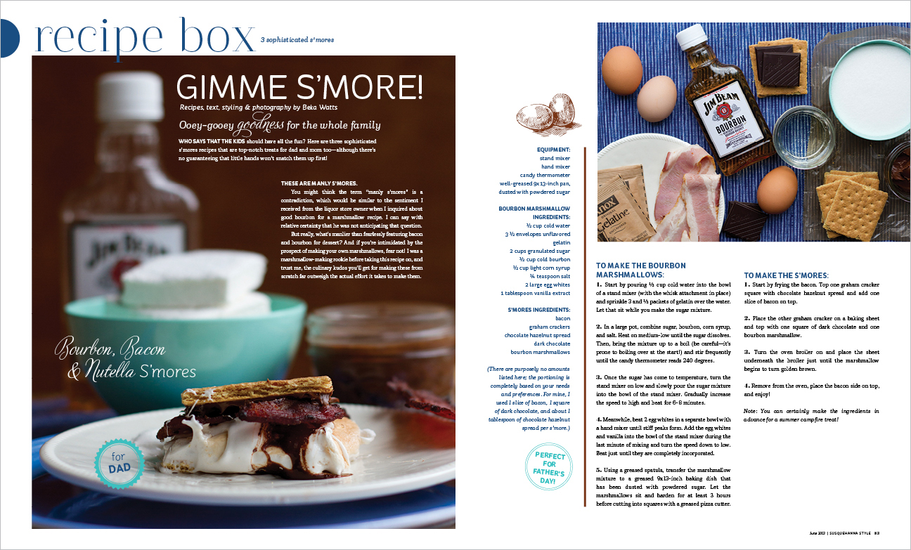 Recipes alyse moyer graphic design filed under editorial graphic design tagged with design food june recipe box recipes smores susquehanna style forumfinder Gallery